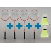 Merco Classic 10 - sada 4 badmintonových raket + 2 MÍČKY ZDARMA!!!