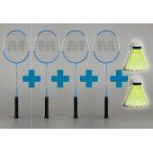 Merco Classic 20 - sada 4 badmintonových raket + THERMOOBAL + 2 MÍČKY ZDARMA!!!