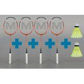 Merco XTR-3 - sada 4 badmintonových raket + 2 MÍČKY ZDARMA!!!