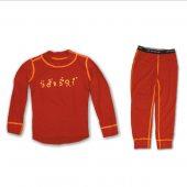 SENSOR DOUBLE FACE komplet dětský triko + spodky červená + DÁREK DLE VÝBĚRU!